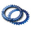 Race Face Single Narrow Wide Kettenblatt 4-Bolt 104mm blau